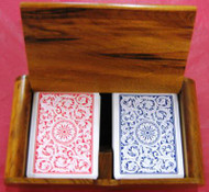 COPAG SOLID WOOD CARD BOX - FITS 2 DECKS OF CARDS