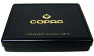 COPAG PLASTIC CARD BOX - FITS 2 DECKS OF CARDS