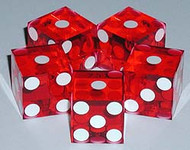 PAIR (2) of Precision Casino RAZOR EDGE RED Craps Dice