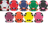 CROWN & DICE 500 CHIP 14g CLAY 500 BULK POKER CHIPS - CHOOSE CHIPS!