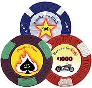 Custom Labels for Poker Chips (selected varietites)