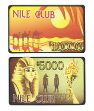 5 NILE CLUB Ceramic Poker Plaques - Choose Type