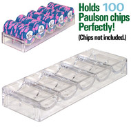 Clear Acrylic Chip Rack for Paulson Chips - Set of 25
