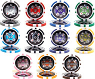 CASINO ACES LASER 14g CLAY Poker Chip Sample Set - 11 Different Chips!