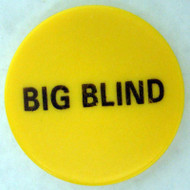 BIG BLIND CERAMIC Poker Dealer Button - Large 2 Inch Size!