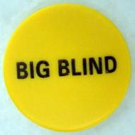 BIG BLIND CERAMIC Poker Dealer Button - Large 2 Inch Size!