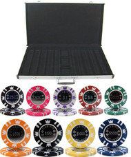 CASINO CROWN COIN 15gm 1000 Chip Poker Set with Aluminum Case