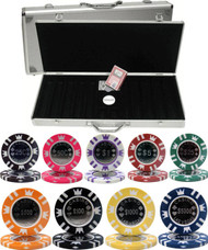 CASINO CROWN COIN 15gm 500 Chip Poker Set with Aluminum Case