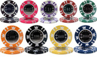 CASINO CROWN COIN 15gm Poker Chip Sample Set - 9 Different Chips!