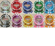 50 LAS VEGAS CASINO LASER 14gm CLAY POKER CHIPS - CHOOSE COLOR