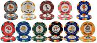 50 NILE CLUB Ceramic Clay 10gm Poker Chips