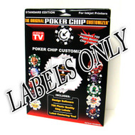 Original Poker Chip Customizer - REPLACEMENT LABELS