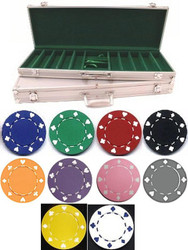 500PC SUITED 11.5GM POKER CHIP SET - CHOOSE CHIPS!