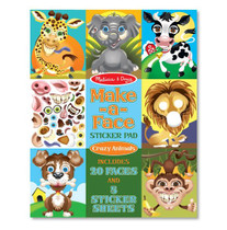 Crazy Animals Sticker Pad