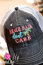 Beach Hair Don't Care Trucker Hat (Limited Edition)