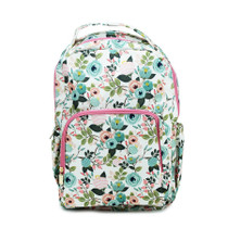 Peach Floral Backpack