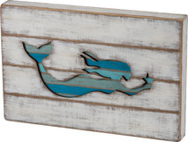 Mermaid Slat Cut-Out Sign