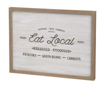 Eat Local Box Sign