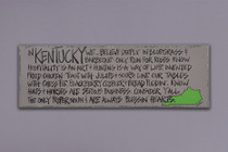 Define Kentucky Wooden Sign