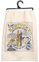 Embroidered Kentucky Dish Towel