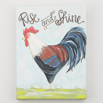 Rise and Shine Rooster Canvas