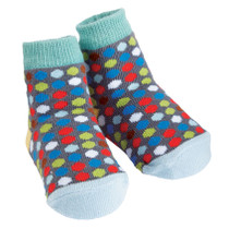 Boys Baby Socks - Dotted