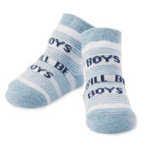 Boys Baby Socks - Boys Will Be Boys