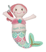 Coral Mermaid Plush Tooth Fairy Pillow
