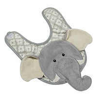 Emerson Elephant Applique Bib
