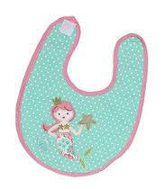 Coral Mermaid Applique Bib