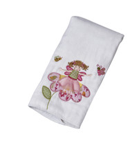 Fairy Garden Applique Single Burp Cloth