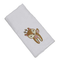 Farrah Fawn Applique Single Burp Cloth