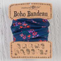 Boho Bandeau Headband  - Navy Pink