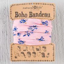 Boho Bandeau Headband  - Pink Roses