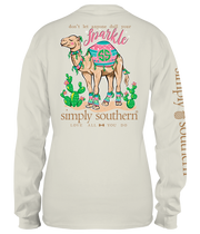 Simply Southern Long Sleeve Tee - Camel