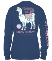 Simply Southern Long Sleeve Tee - Llama (Youth)