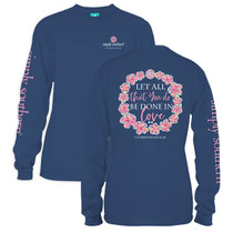 Simply Southern Long Sleeve Tee - Let All (Youth)