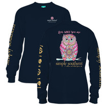YOUTH Simply Southern LS Tee - Whoo
