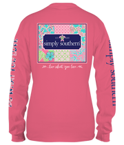 Simply Southern Long Sleeve Tee - Patchwork (Youth)