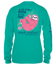 YOUTH Simply Southern LS Tee - Sloth