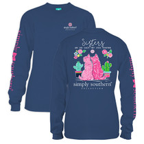 YOUTH Simply Southern LS Tee - Preppy Sisters