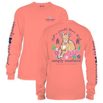 YOUTH Simply Southern LS Tee - Preppy Goat