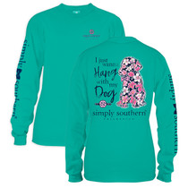 YOUTH Simply Southern LS Tee - Preppy Dog