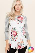 Kelsey Floral Raglan Top