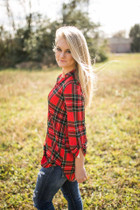 Cara Tunic - Red Plaid