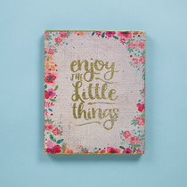 Bungalow Keepsake Wall Art - Enjoy Little