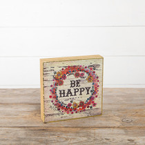 Bungalow Keepsake Wall Art - Be Happy