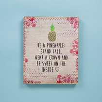 Bungalow Keepsake Wall Art - Pineapple