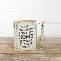 Bungalow Keepsake Wall Art - What I Love