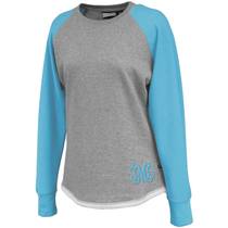Hampton Hi-Lo Raglan Sweatshirt - Aqua